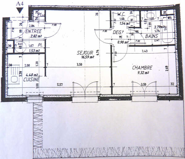 Appartement Maintenon 2 pièce(s) 40.59 m2